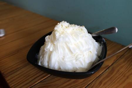 杏仁の氷がふわふわ